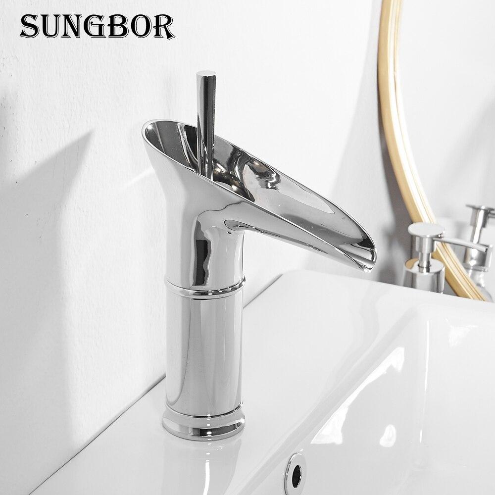 Modern Chrome Bath Basin Faucet Brass Faucet Sink Mixer ...