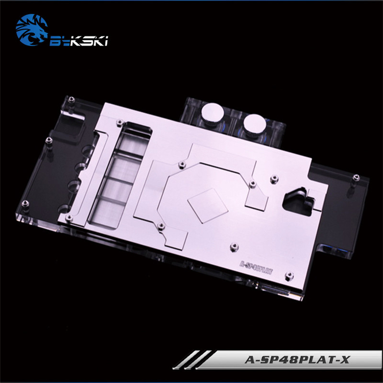 Bykski A SP48PLAT X, Full Cover Graphics Card Water Cooling Block RGB/RBW for Sapphire NITRO RX480 / Dataland RX480-in Fans & Cooling from Computer & Office    3