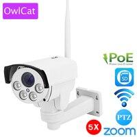 OWLCAT SONY IMX323 Wireless Mini Bullet PoE IP Camera PTZ 4X Zoom Auto Focus 2 8