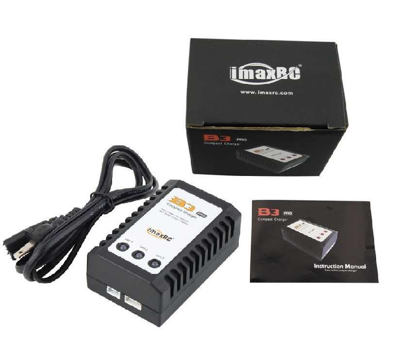 IMAX B3 Pro Kompak Balance Charger untuk 2 S 3 S 7.4 V 11.1 V Baterai Lithium Airsoft Gun Battery tinggi Kualitas Tahan Lama Adaptor