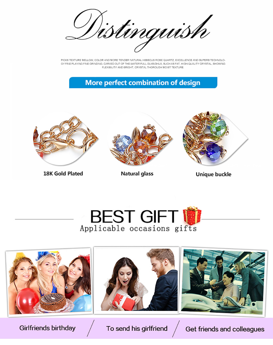 BELAWANG 18 Fashion Charm Bracelets & Bangles Fashion Crystal Stone Gold Bracelet For Women Friendship Bracelets Femme Jewelry 6