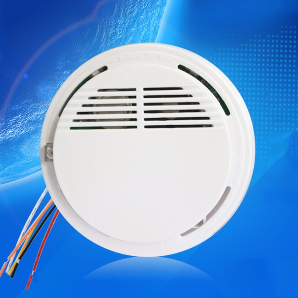 LESHP Wired Ceiling Mounted DC 16V Alarm Combustible Gas Detector Gas Leak Alarm with Red LED flash indicator alerting wall mounted alarm combustible gas