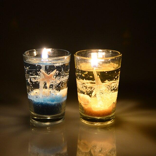 Neue Düfte Shell Ozean Gelee Transparent Kerzen Glas Kerze