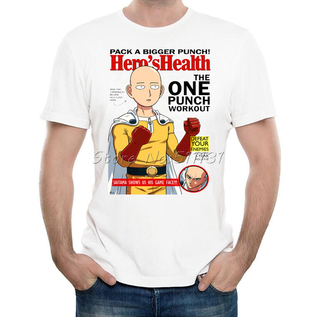 2017 Newest Design One Punch Man T shirts Fashion Summer Anime Printing