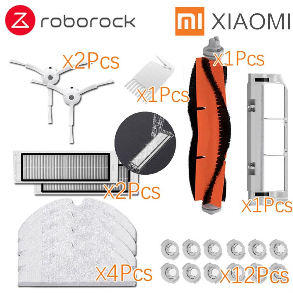 Geeignet für Xiaomi Roborock Roboter S50 S51 E35 Staubsauger Ersatzteile Kits Mop Tücher Nass filter Seite Pinsel Rolle pinsel