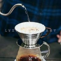 1 2/2 4 copos de café inoxidável dripper kalita mão filtros de café|Filtros de café|   -