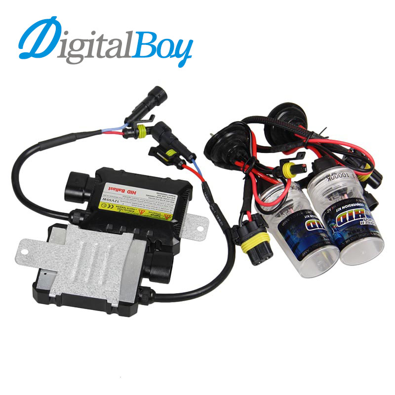 Digitalboy DC 35W HID Ballast Block Kit 880 Xenon Bulb H27 881 Car Conversion Headlight Lamp 5000k 6000k 8000k Xenon HID Bulbs slim hid xenon ballast 880 4300k headlight kit conversion bulbs 35w [c476]