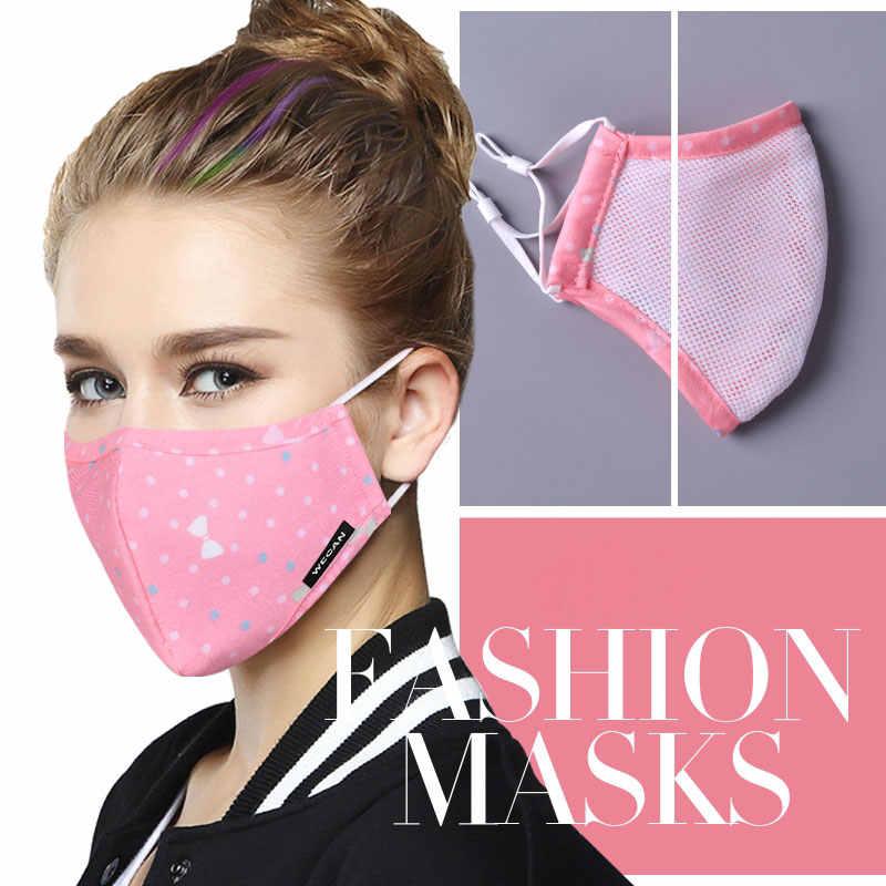 ผ้าฝ้าย PM2.5 Anti Haze หน้ากากป้องกันฝุ่น Mouth หน้ากากกรองคาร์บอนปาก-muffle หน้ากากผ้า Face หน้ากาก 6 ชิ้น