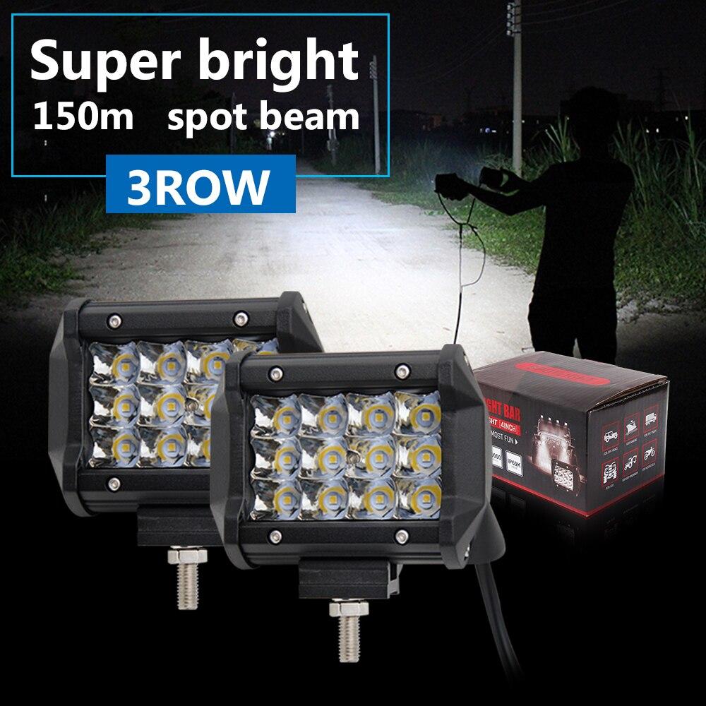CO LIGHT Led Work Light 36W 2Pcs 3D Cree Chip 4'' & 4Inch 7200Lm Mini Spot Led IP68 for Lada Niva Uaz Gaz Jeep 4x4 Driving Light