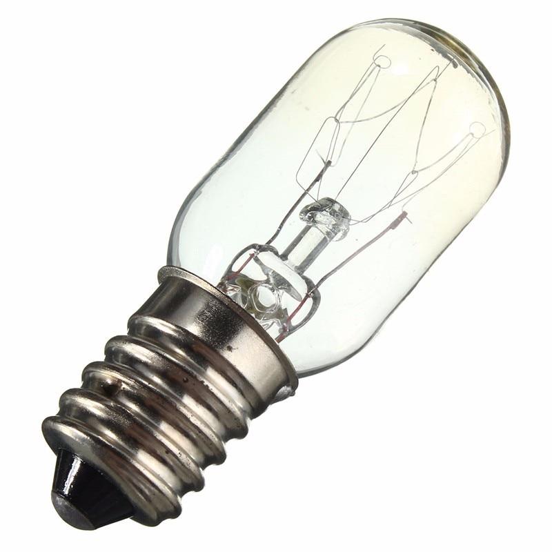 Edison Bulb E14 SES 15W/25W Fridge Light Refrigerator Lamp Bulb Tungsten Filament Warm White Lighting AC220-230V