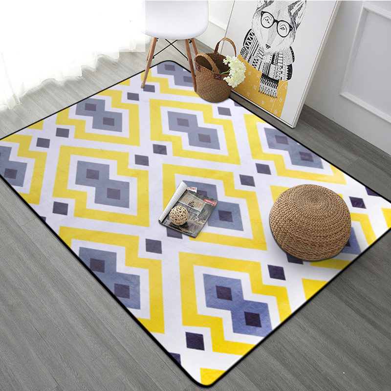 Modern Style Carpets Living Room Sofa Large Size Floor Mats Bedroom Bedside Rugs Pad Nordic Decoration Home Doormat Rug 9 Colors image
