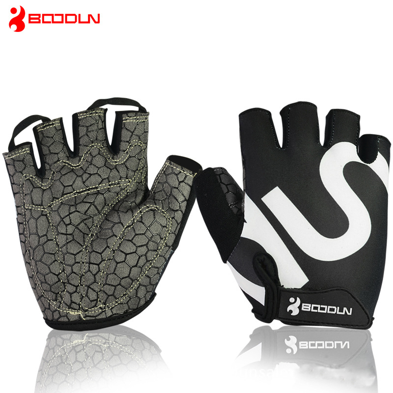 Summer Gloves Men Women Bodybuilding Fashion Anti Slip Sport Training Fingerless Mittens Guantes Gym Fitness Glove AGB001