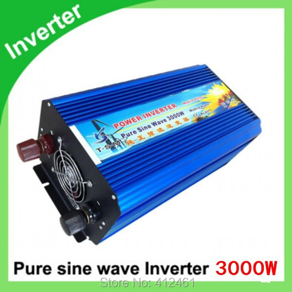 3kVA ren sinus inverter peak 6000w.12 volt 24 volt 48 volt home inverter 3000w pure sine wave inverter 3000w pure sinus inverter 12 volt to 220 volt 3000va off grid pure sine wave inverter