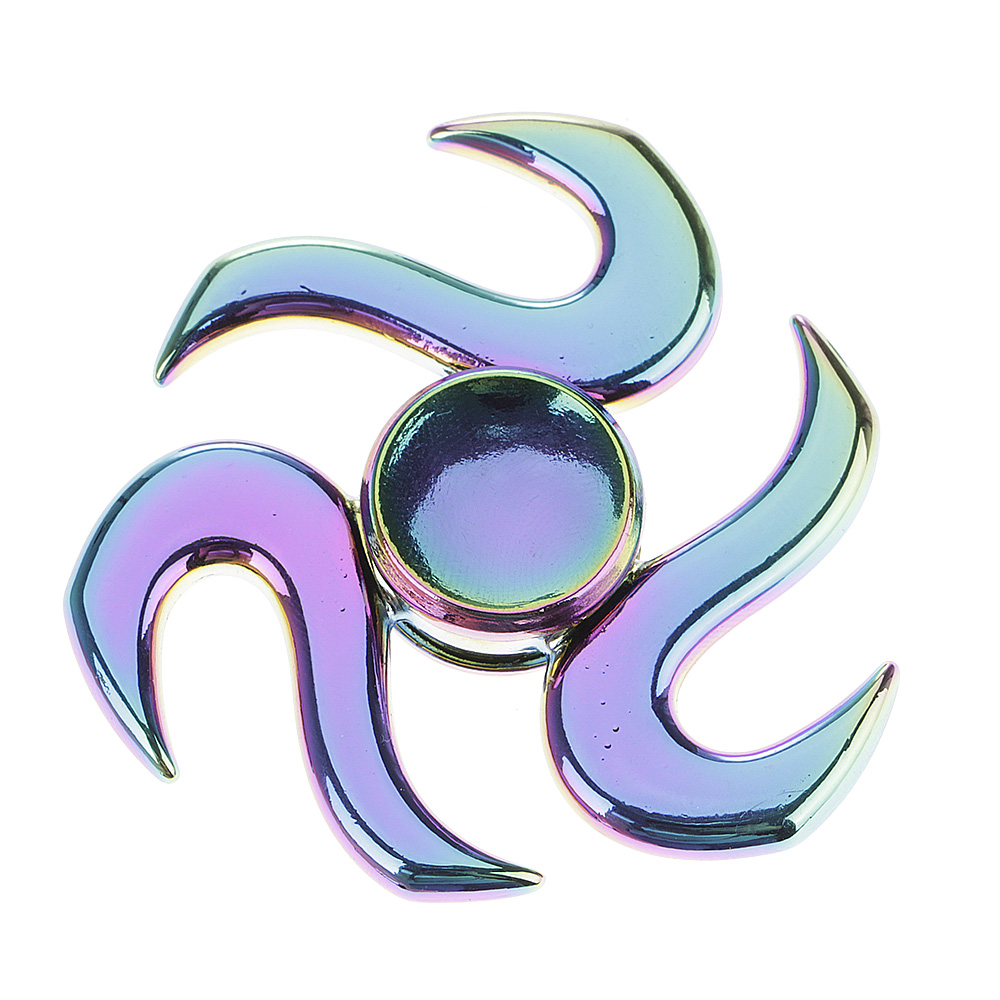 Rainbow Fishhook Fidget Hand Finger Spinner EDC Focus Toy Speed Bearing for Kid