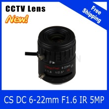 5Megapixel Varifocal CCTV Lens 6-22mm CS Mount DC IRIS For 1080P/4MP/5MP Box Camera/IP Camera Free Shipping