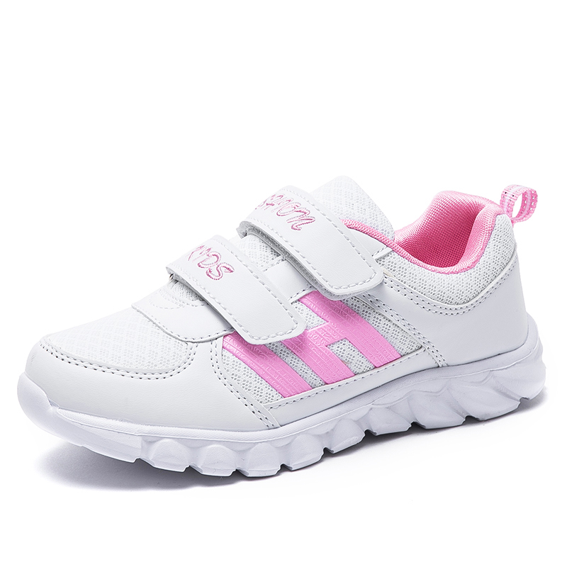 Novelty Children Causal Shoes Pink White Sneakers Shoes For Girls Boys Running Shoes Light Breathable Antislip Soft Sneakers 727
