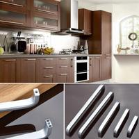 5 Lengths Solid Hollow Space Aluminum Handle Kitchen Furniture Pulls Wardrobe Handle Drawer Handle 64mm 96mm
