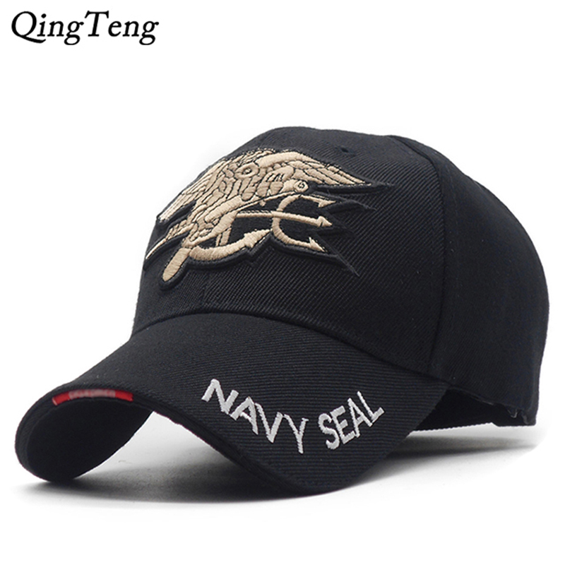 Us Navy Team Tactical   Baseball     Cap   Mens Navy Seals   Caps   Brand Gorras Cotton Army Snapback Hat Black Bone Male New 2019