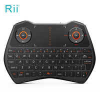 Rii i28C 2.4G Mini Wireless Keyboard for Laptop/Smart TV with Touchpad Backlight Ergonomic Design Multitouchpad Qwerty Keyboard