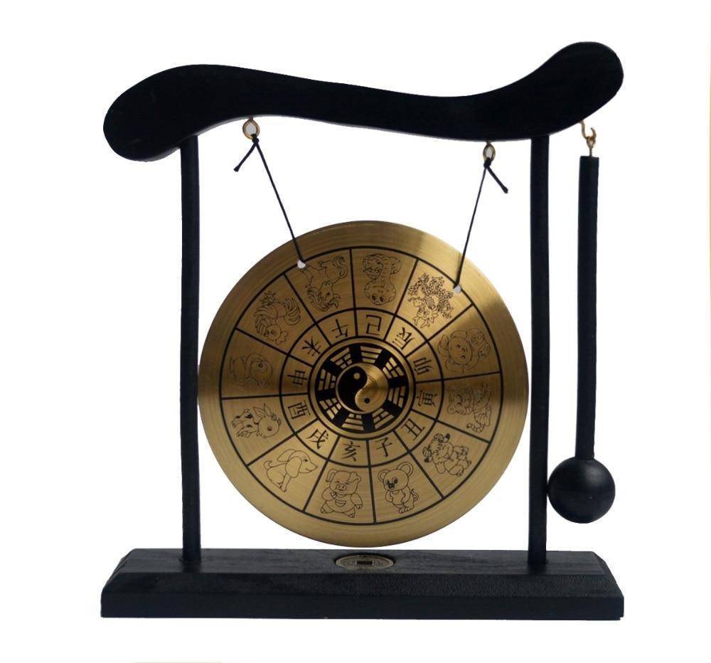 zen art brass feng shui desktop zodiac gong w free