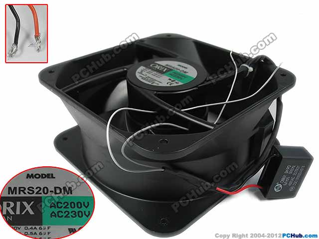 Emacro Для Орикс MRS20-DM AC 200V 230V 0.5A 50 / 60Hz 200x200x90mm сервера Square Fan