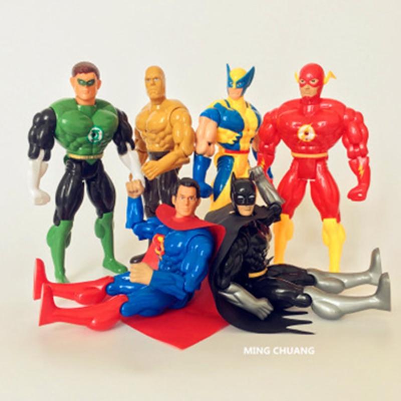 Justice League Superman Batman Wonder Woman The Flash Aquaman Cyborg With Sound With LED Light Collectible Model Toy 25CM D113 markslojd настольная лампа markslojd bodafors 104044