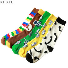 New Arrival Women Ladies Socks Happy Crew Colorful Cartoon Bear Print Novelty Brand Sock Cotton Harajuku Sox Autumn Wholesale