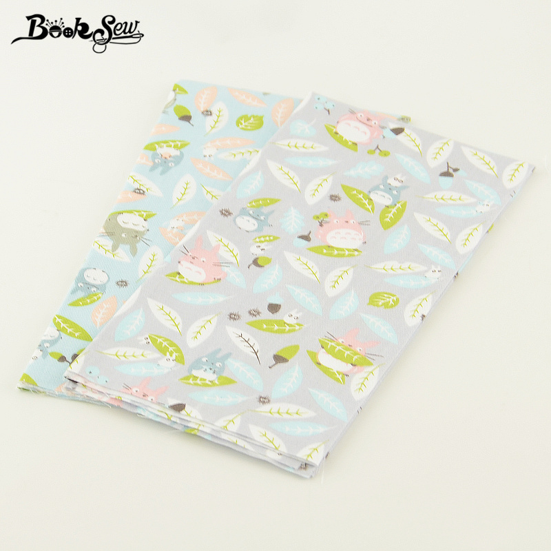 Lovely Animals Designs Booksew Fabric 2 Pcs/lot Bedding Twill Quliting Patchwork Tissue 50cmx100cm DIY for Clothing Baby Dress