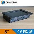 Atom N2600 1.6 Ггц компьютер на складе 8 дюймов промышленный пк rs232 черный алюминий мини-пк с 2 ГБ RAM 800x600