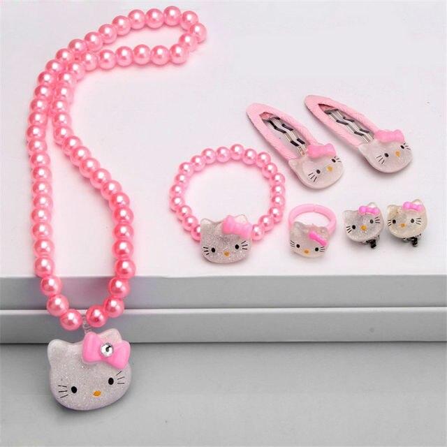 Children Hair Accessories Set Hello Kitty Jewelry set 2