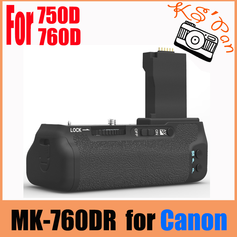 MEIKE MK-760DR Built-in 2.4g Wireless Control Battery Grip for CANON 750D 760D AS BG-E18 meike mk 760d pro built in 2 4g wireless remote control vertical battery grip for canon 750d 760d rebel t6i t6s lp e17 as bg e18