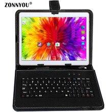 10,1 дюймов планшетный ПК Android 7,0 3g телефонный звонок Octa-Core 4 Гб Ram 32 Гб Rom встроенный 3g Bluetooth Wi-Fi gps + клавиатура