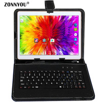 10/1 inches Tablet PC Android 7.0 3G Call Octa Core 4GB Ram 32GB Rom Built in 3G, Bluetooth, Wifi GPS+Keyboard