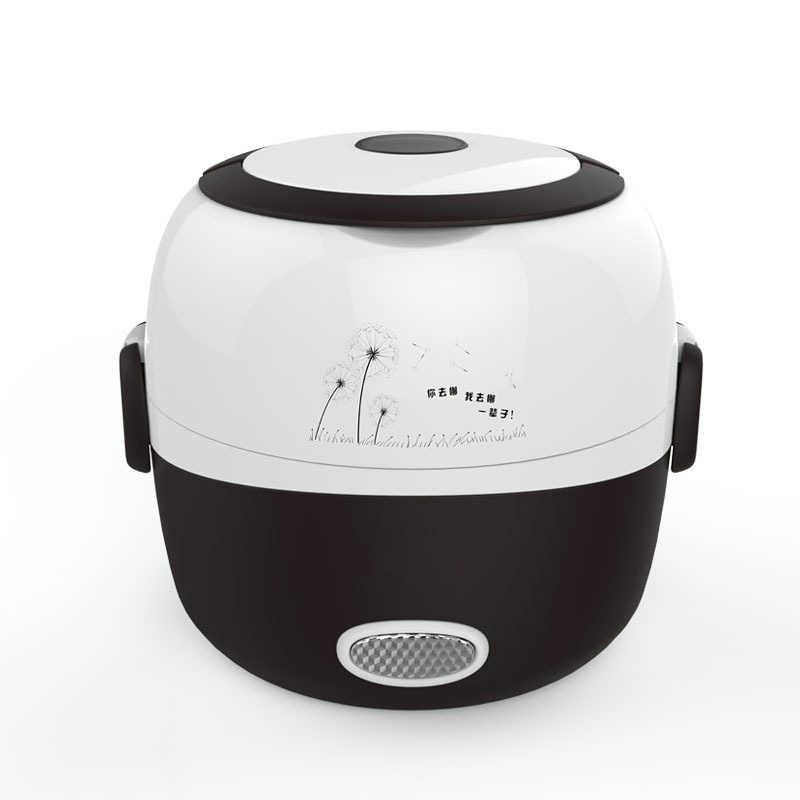 MINI panela de arroz isolamento caixa aquecimento almoço elétrico 2 camadas Steamer Portátil multifunction automático Recipiente de Alimento DA UE