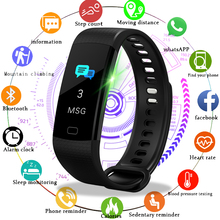 LIGE New Smart Bracelet Phone reminder Blood Pressure Heart Rate Monitor fitness Tracker Sport Watch  For Android iOS Relogio