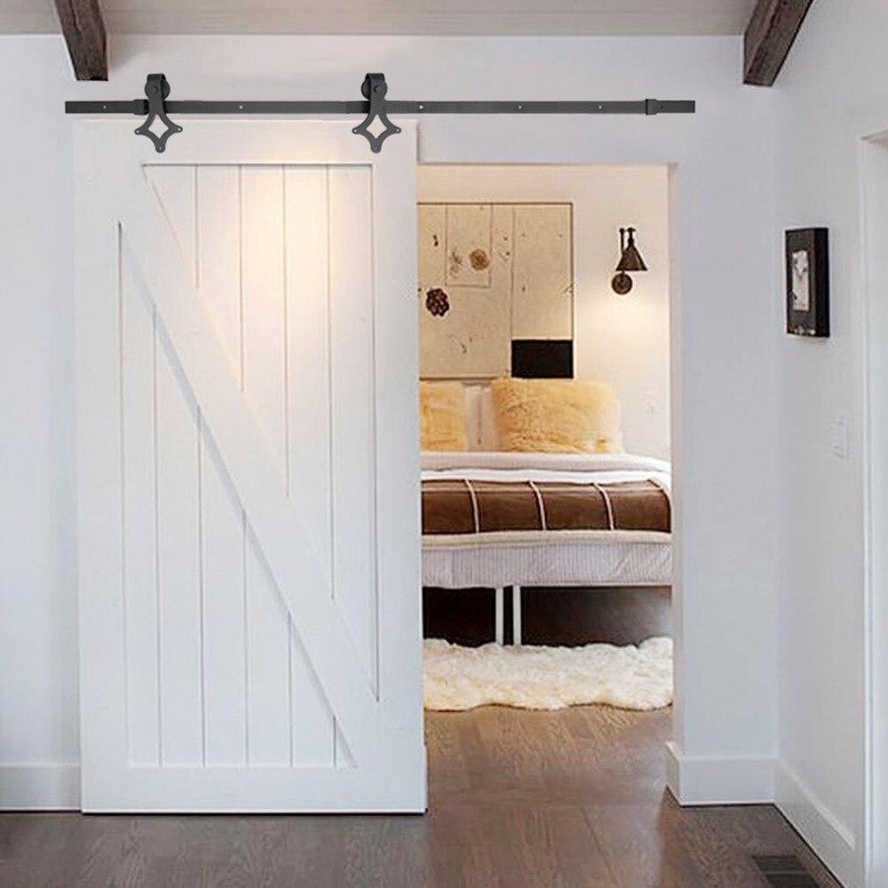 1.83 M/2 M robuste maison losange forme porte Rail système de porte coulissante Rail matériel de montage ensemble pour porte coulissante en bois nouveau