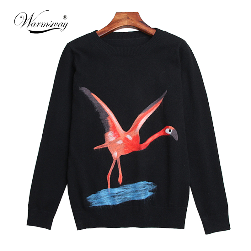 2019 New Arrival Women Pullovers Sweaters Autumn winter Animal Cartoon Embroidery O-Neck Pull Femme C-115
