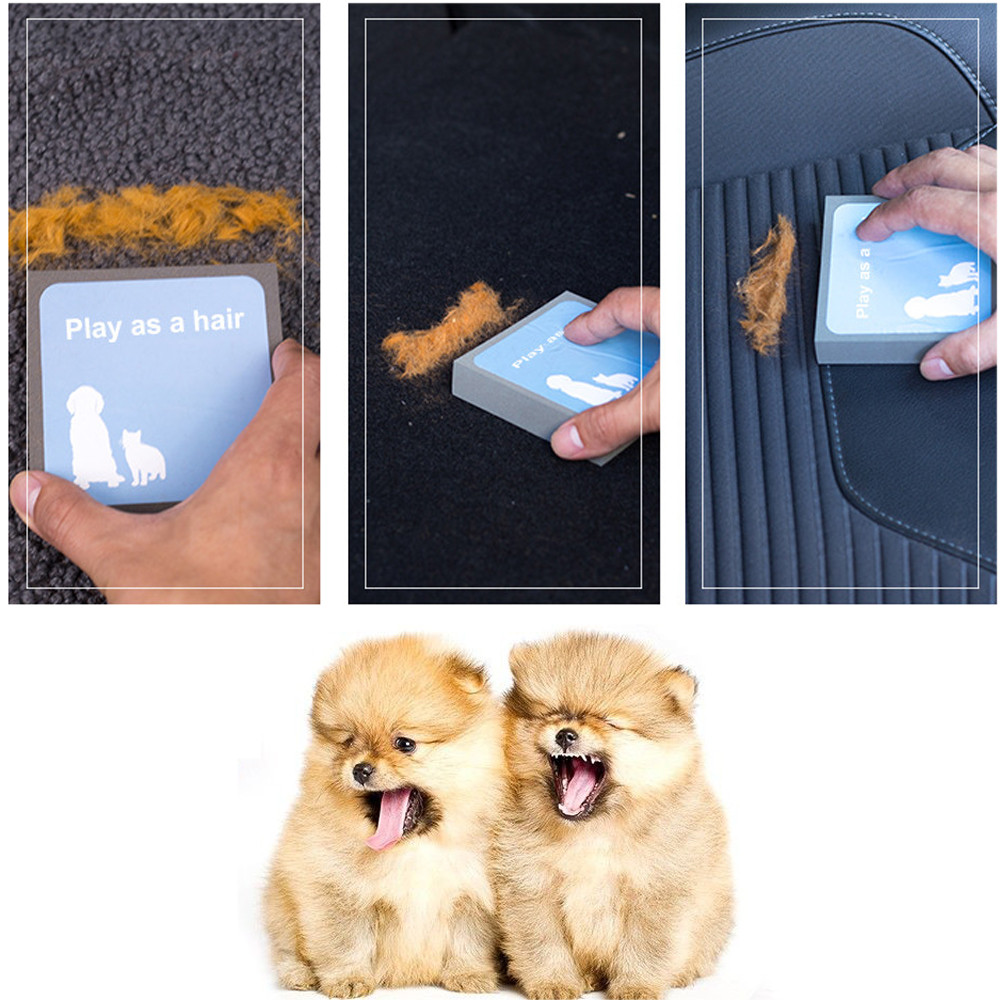 Pet Dog Cat Cleaning Brush Foam Carpet Hair Fur Suction Remover Cleaner Brushes Household Car Cleaning Accessories F531