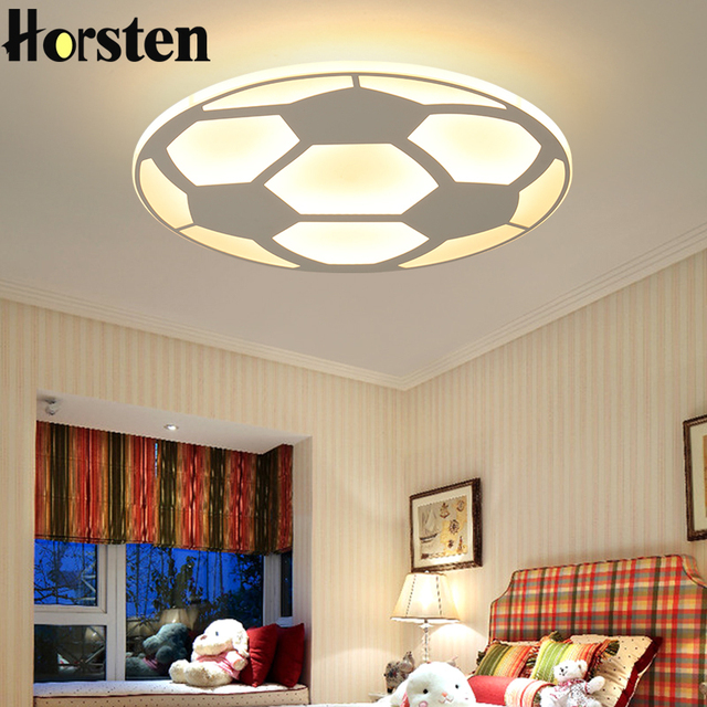 Creative Kids Room Lighting Acrylic Football Design Led Ceiling Lights For Baby Bedroom Ultra