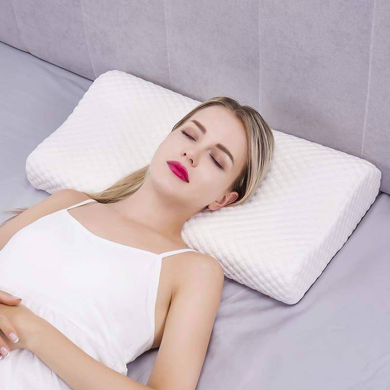 Almohada ortopédica de espuma viscoelástica para el cuello, almohada masajeadora de coxis Cervical para dormir, rebote lento, cuidado de la salud, ropa de cama para liberar dolor
