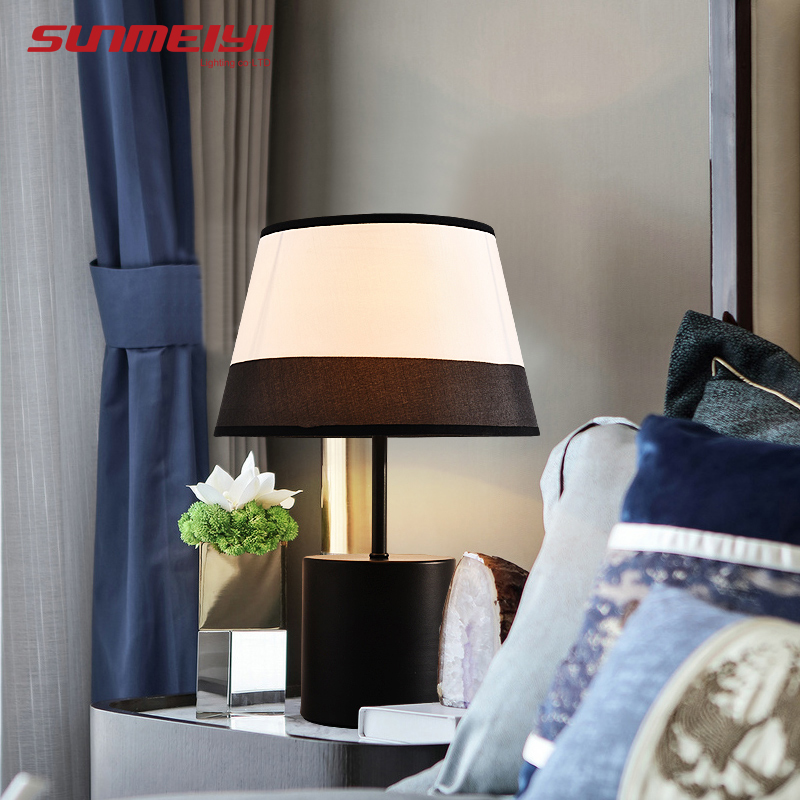 Modern Table Lamps For Bedroom Living room Study Bedside Nordic Fabric  Shade LED Desk Light candeeiro de mesa Night Lights