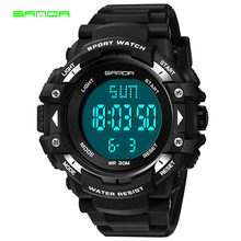 SANDA популярный светодиодный цифровой детский часы для девочек и мальчиков, многофункциональные электронные спортивные наручные часы с подсветкой и будильником, подарок-сюрприз