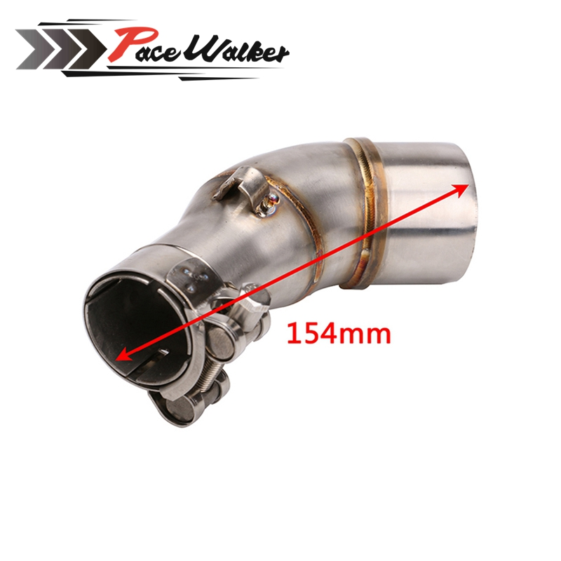 FREE SHIPPING Motorcycle Exhaust Pipe Muffler Escape Connecting Pipe Front Link Pipe Moto Mid Pipe for kawasaki Z250SL