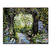 Framework Romantic Garden Oil Painting By Numbers DIY Digit Abstract Coloring Canvas Pictures Kits Drawing Home