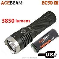 Acebeam EC50 Gen III Tactical Flashlight CREE XHP70.2 LED max 3850 lumen beam distance 326 meter torch + 26650 5000mAh battery