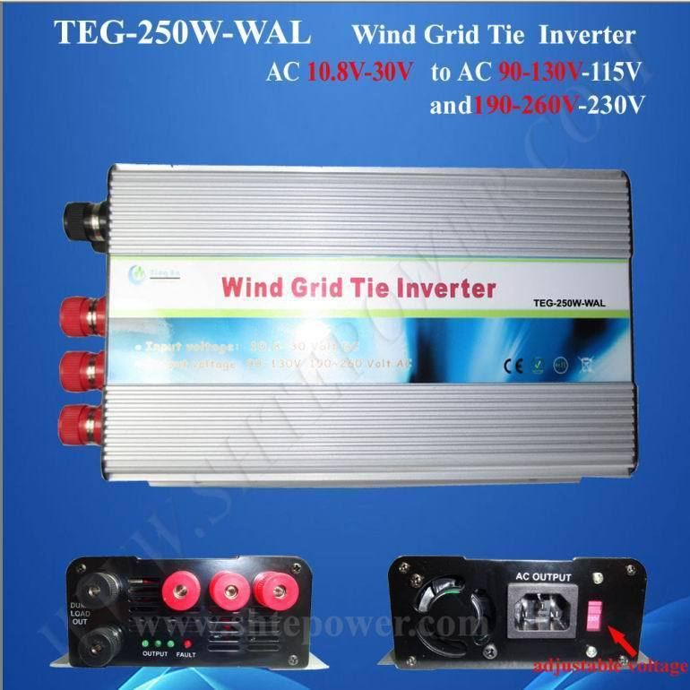 Build in dump load controller wind grid tie 250w ac to ac inverter 10.5-30v pollutants spread around gweru dump site