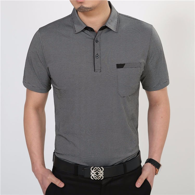 Free Shipping Short Sleeve T Shirt Cotton Clothing Men T-Shirt With Pocket Casual Dress Factory Wholesale Plus Size S XXXXL 2229 6