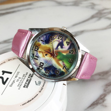 Christmas gifts cute long hair princess girl boy child watch sports jelly leather watch HOT cartoon
