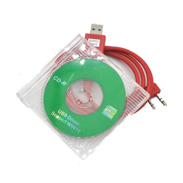 Original Walkie Talkie WOUXUN KG UVD1P KG UV6D KG UV8D KG UV899 KG UV9D PLUS USB Programming Cable +Programming Software CD