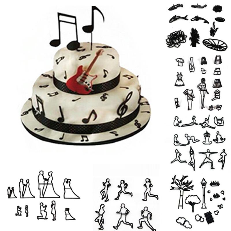 Terrific 1Set Work Out Fitness Love Music Fondant Cake Cookie Cutter Mold Funny Birthday Cards Online Hendilapandamsfinfo